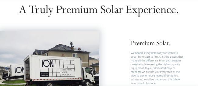 ION solar website middle