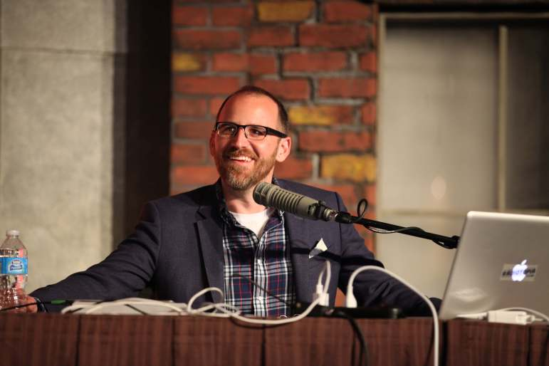 Roman Mars speaks at Podcast Movement 2015. (Photo: Podcast Movement)