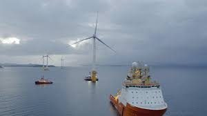 World's 1st floating wind farm starts to take shape off coast of Scotland