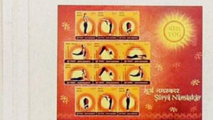 Japan releases postage stamps on Indian Yoga experts