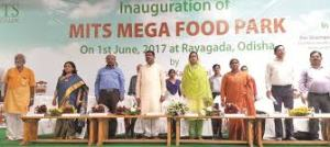 Inauguration of MITS Mega Food Park at Rayagada, Odisha