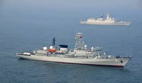 Five-ship Indian naval training flotilla on visit to Colombo