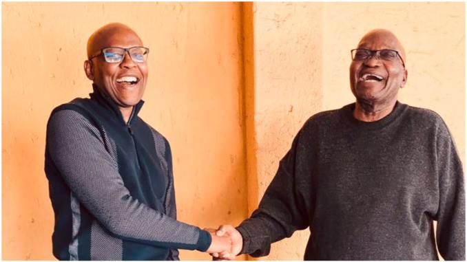 Jacob Zuma and Mzwanele Manyi