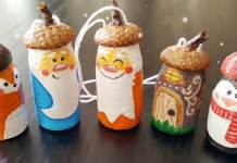 DIY Cute Bottle Cap Snowman Ornaments