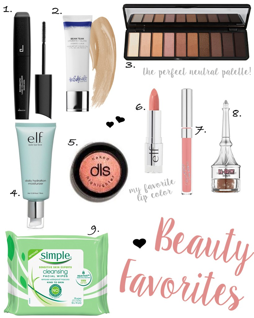 Current Beauty Favorites + Recommendations