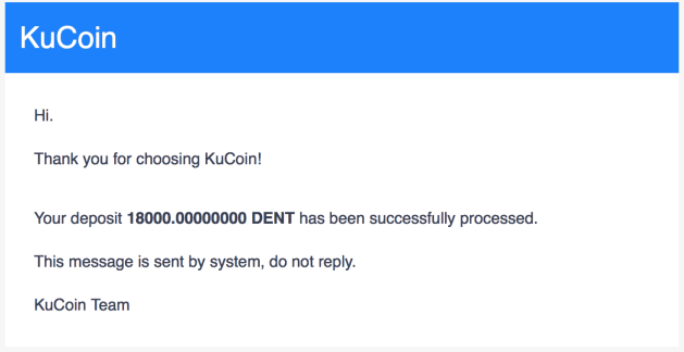 KuCoin promotions DENT