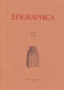 Epigraphica LXXXI (2019)