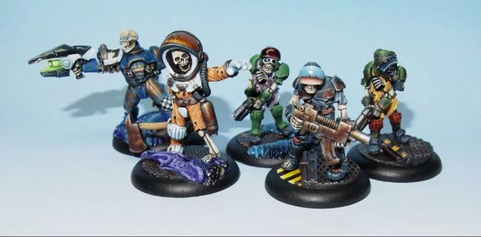 skeletons undead space pirate marine mini miniatures painted stargrave