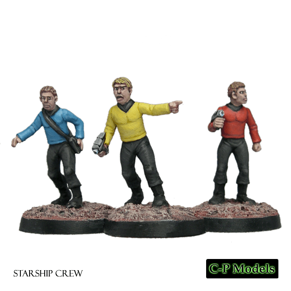 star trek mini miniatures painted