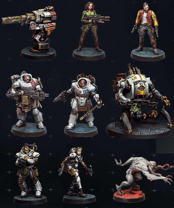 scifi science fiction zombicide space marine crew alien miniatures minis star zombies