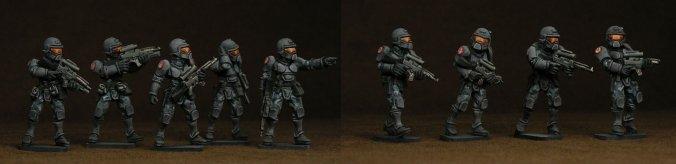 federal army infantry riflement khurasan stargrave minis miniatures painted metal