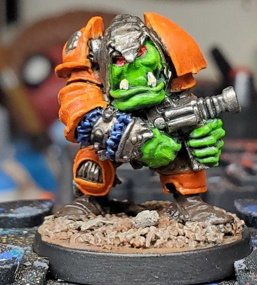 rogue trader warhammer 40k 40000 games workshop gw orktober painted sqaudy squotter korgar the armoured ork orc space