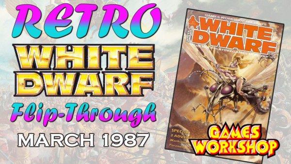vintage retro white dwarf magazine wd87 games workshop gw warhammer