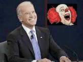 Biden the clown - don't you just wanna slap that smile off his face?