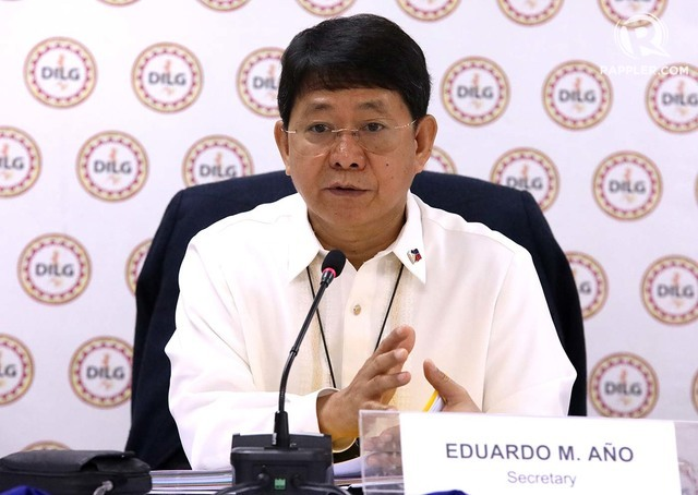 DILG Eduardo Año Presscon on Clearing roads of Illegal Obstruct