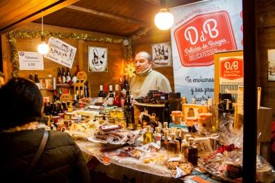 Puesto navideño de Delicias de Burgos