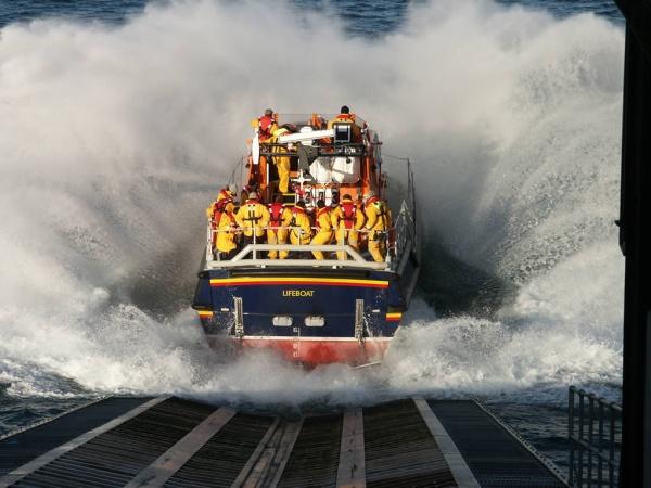 Life boat launching