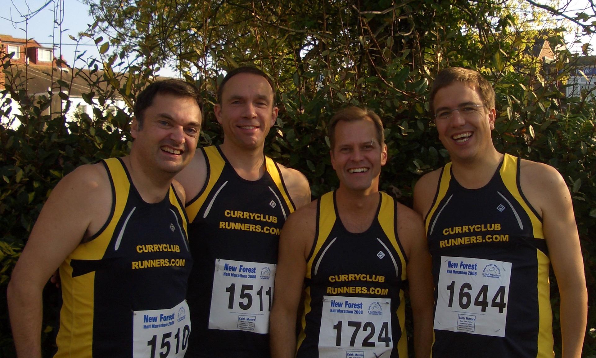Curry Club runners before the half marathon