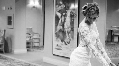 Curry Event Services of New England - Black and White bride