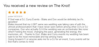 Dom and Ben Wedding Review!