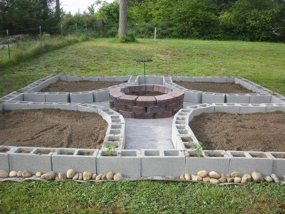 Building Raised Garden Cement
