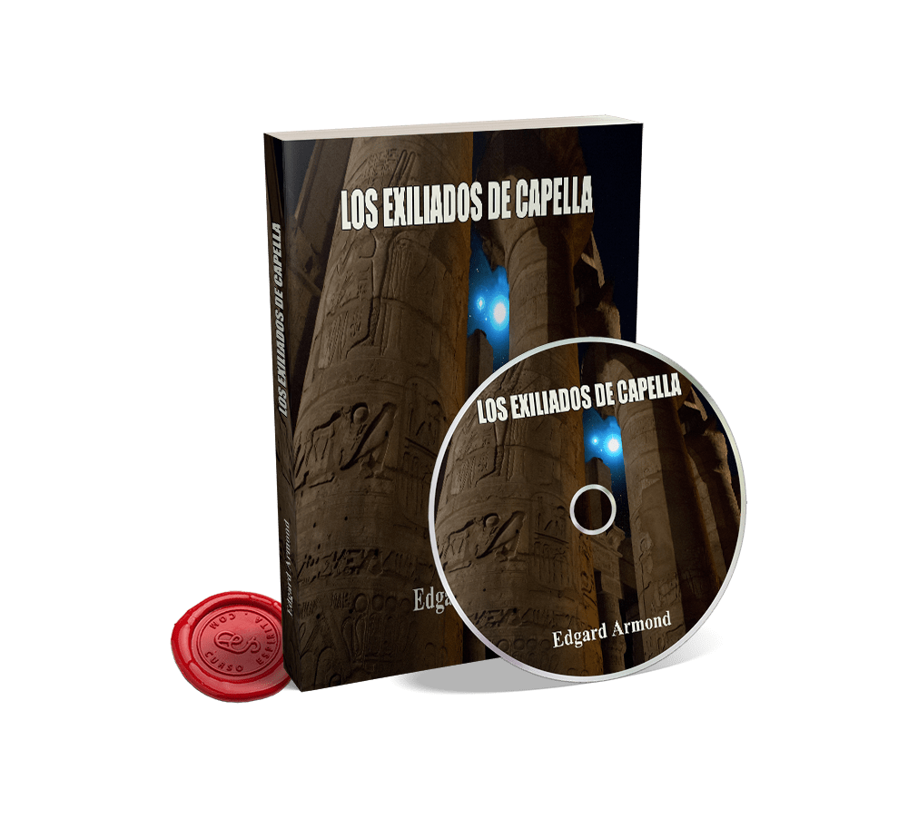 Portada Audiolibro Los Exiliados de Capella por Edgard Armond