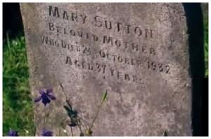 Tumba de Mary Sutton