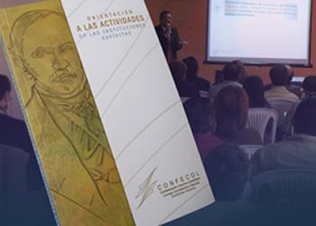 Portada Orientación a las actividades de las Instituciones Espíritas, por la Confederación Espírita Colombiana.
