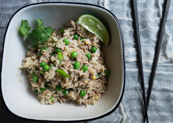 Every bite of this Thai Pork Fried Rice is bursting with sweet, sour, spicy, and umami flavors.