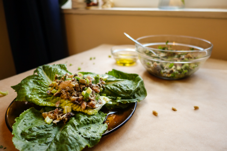 Crunchy, savory, and bright lemon-herb sardine salad