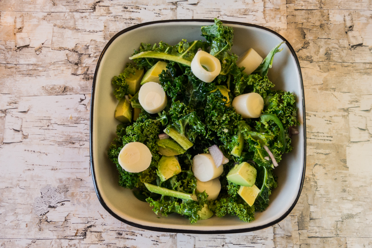 A spicy kale salad that makes a perfect summertime meal