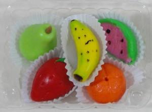 Modelado de frutas - Curso de Mazapan por Alexandra de Serrano