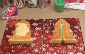 Cómo sacar dos arboles de navidad de una torta redonda - Rosa Quintero