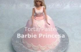Torta/Pastel Decorado como Barbie Princesa por Rosa Quintero