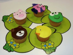Decoraciones Animalistas del curso Como Hacer Cupcakes por Rosa Quintero