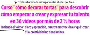 Titulo Carta de Ventas Curso Decoracion Tortas por Rosa Quintero