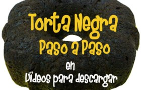 Torta Negra en Forma de Bundt por Rosa Quintero