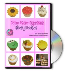 DVD Curso Como Hacer Cupcakes por Rosa Quintero