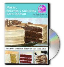 Curso Masas, Rellenos y Cubiertas en DVD por Rosa Quintero