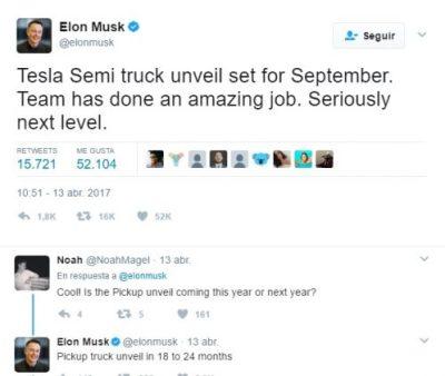 Elon Musk anuncia en un tweet su próximo proyecto para Septiembre