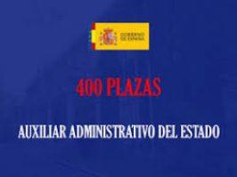 Convocatoria 2017 auxiliares Administrativos Estado