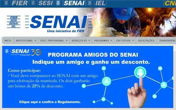 Senai Roraima cursos profissionais 2017