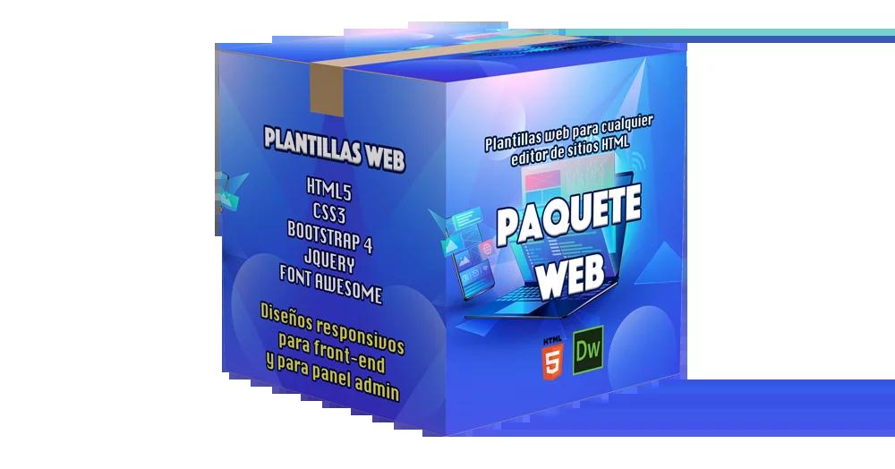 paquete diseño web plantillas