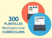 descarga 300 plantillas curriculum gratis