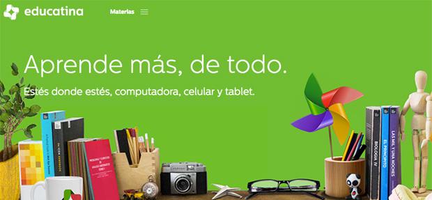 Educatina, recursos educativos para aprender en Internet