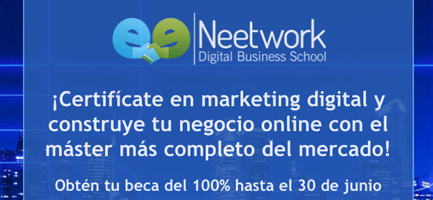 master de Marketing digital gratis hasta el 30 de Junio