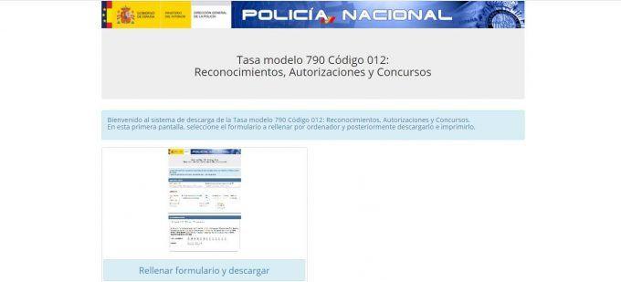 Modelo 790 Policía Nacional