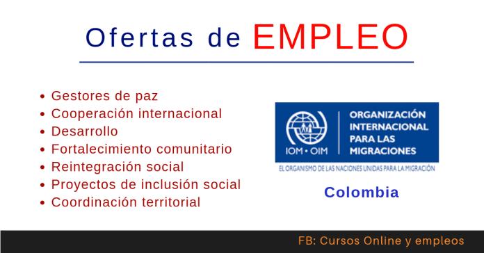 OIM Colombia anuncios de trabajo