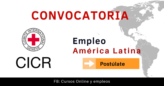 Cruz Roja Internacional empleo CICR