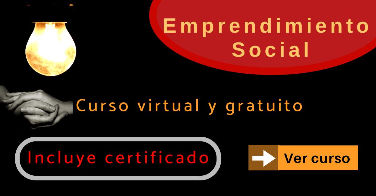 Curso virtual de emprendimiento social